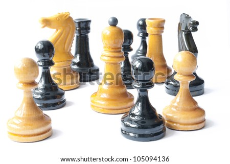 Black and White Chess Together