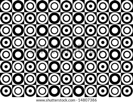 black with white circles pattern fabric on Etsy, a global handmade