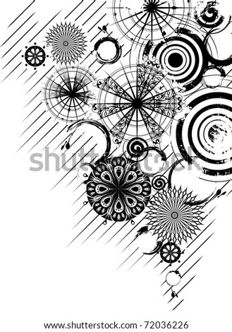 Black and white circles abstract background (see eps version in my portfolio)