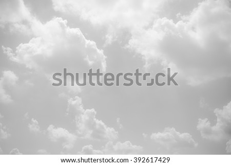 black and white clouds and sky