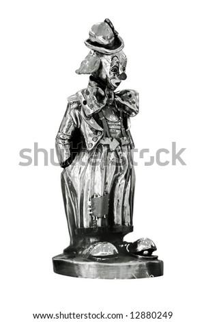 Black and white clown statue