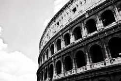 Black and White Colosseum, Rome, Italy