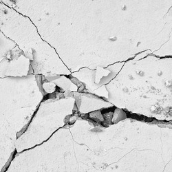 black and white cracked floor texture background
