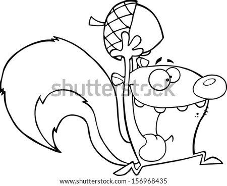 Squirrel Black And White Drawing Black And White Crazy Squirrel