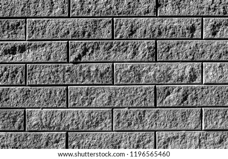 Black and white detailed high resolution brickwork texture background - stock photo