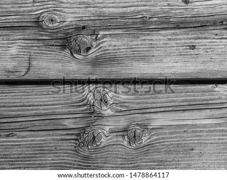 Black and White Dock Planking.  Sun bleached and worm thick boards along Honolulu Wharf.