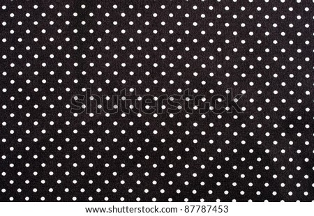 Black and white dots fabric background