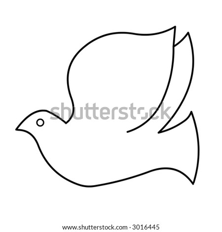 White Doves Drawings Black And White Dove Line