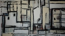 black and white figurative abstract painting