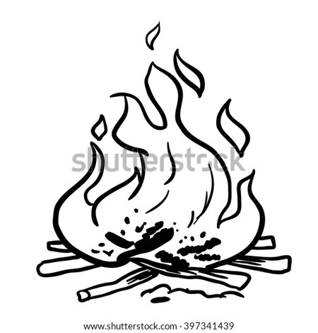 black and white fire cartoon stock photo 397341439 shutterstock. Black Bedroom Furniture Sets. Home Design Ideas