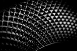 Black and white geometric curve