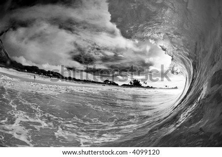black and white giant hollow wave