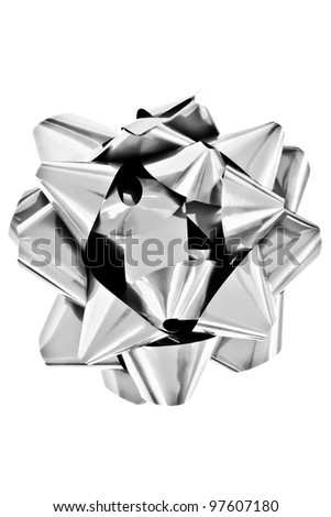 Black and White Gift Bow Isolated on White