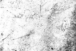 Black and white grunge background. Texture of chips, cracks, scratches, scuffs, dust, dirt. Dark monochrome surface. crack texture