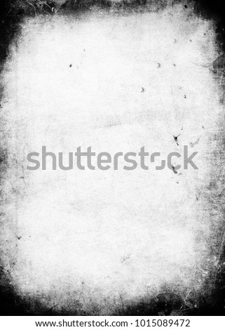 Black and white grunge background with black frame and space for your text or picture