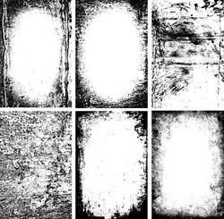 black and white grunge frames