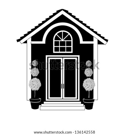 Black And White House Icon Jpg Stock Photo 136142558 Shutterstock