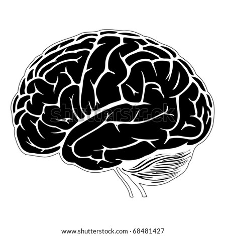 Human Brain Black And White Black And White Human Brain