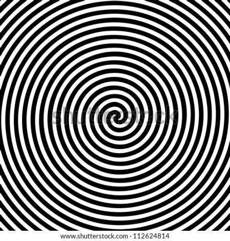 Black and white hypnotic background.  Raster version.