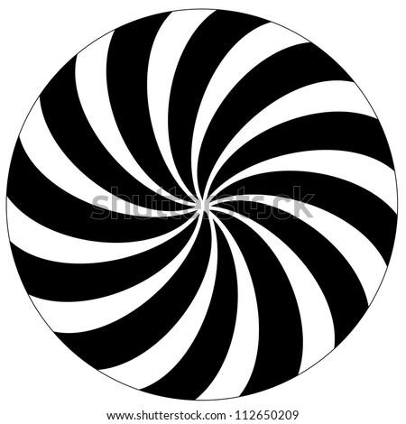 Black and white hypnotic background.  Raster version.