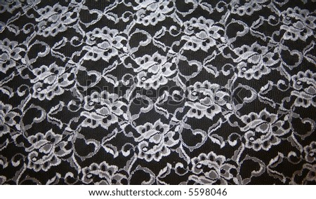 black and white lace texture for background