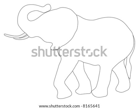 Black And White House Drawing. house Elephants in lack and