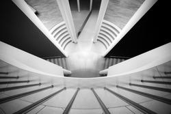 Black and white minimalistic interior