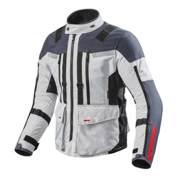 Black and White Motorcycle Jacket Isolated on White. Zipper Riding Jackets with Armor Shoulder and Elbow Protectors. Zippered Cycle Gear Abrasion Resistant Polyester. Sports Outwear