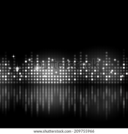 black and white music equalizer background for active parties