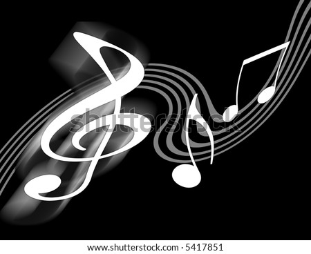 black and white music pics. stock photo : Black and White