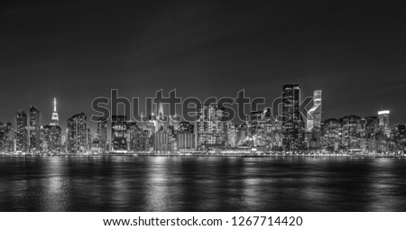 Black and White Night Vision of NYC #1267714420