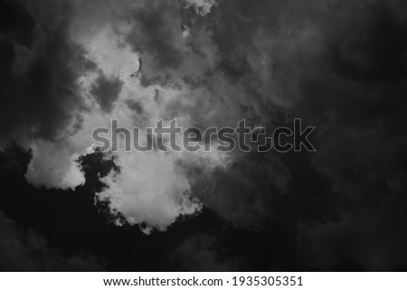 Black and white of cloudscape