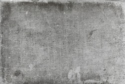 Black and white old book texture with lots of dirt spots, scratches and many other age marks