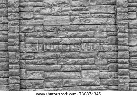 Black and white or monochrome of bricks wall patterns background and ...