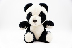 Black and white panda bear soft toy