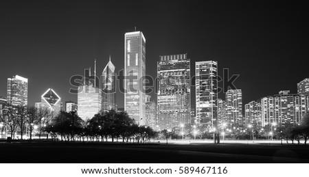 black and white panoramic...