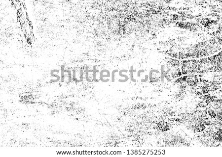 Black and white pattern. Monochrome abstract texture. Background of cracks, scuffs, chips, stains, ink spots
