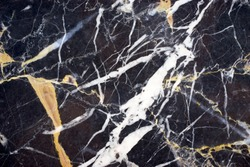 black and white pattern texture marble in gold russia stone for home or kitchen design in luxury concept