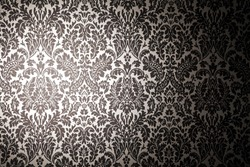 black and white pattern wallpaper. photography with a light stain. Vintage style