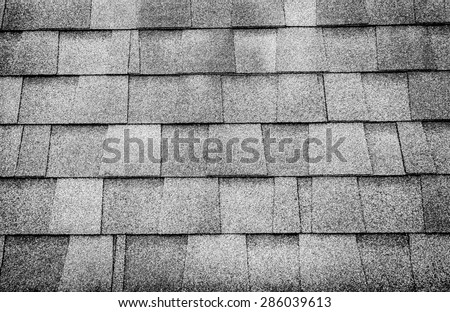 Black and white photo,close up roof tile texture background