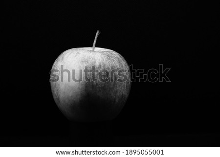 Black and white photo of a cider appel with black background Photo stock ©
