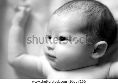 black and white photography baby. stock photo : Black and white