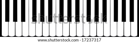 black and white piano top view