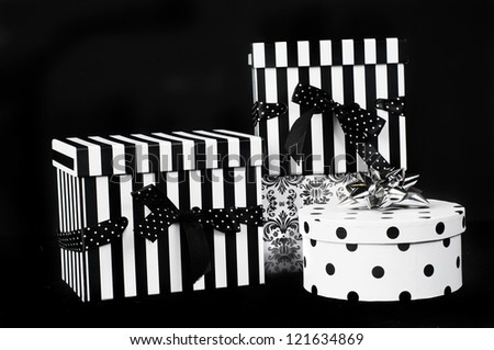 black and white presents for birthday or Christmas