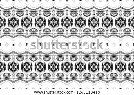 Black and white rectangle symmetrical horizontal pattern for textile, ceramic tiles and backgrounds #1265118418