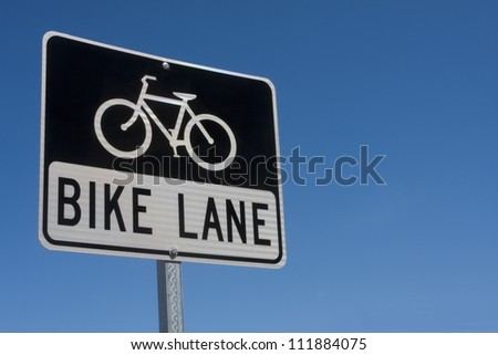 Black and white reflective Bike Lane sign
