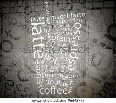 Black and White Retro Coffee Poster