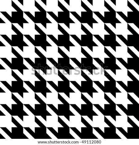 Black and white seamless houndstooth pattern or texture.