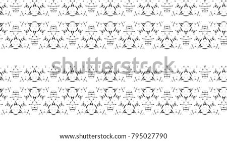 Black and white seamless pattern for textile, backgrounds, tiles and designs