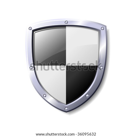 blank shield clip art. and White Shiny Shield